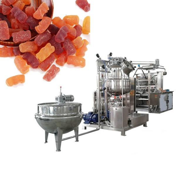 Big capacity for factory Three-depositor Jelly Candy Starch Mould Line gummy candy machine